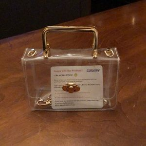 Stadium approved small clear plastic purse